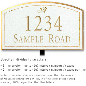 Salsbury 1420WGDL Signature Series Address Plaque