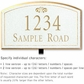 Salsbury 1420WGFL Signature Series Address Plaque