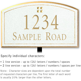 Salsbury 1420WGGL Signature Series Address Plaque