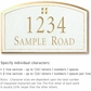 Salsbury 1420WGGS Signature Series Address Plaque