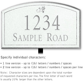 Salsbury 1420WSDL Signature Series Address Plaque