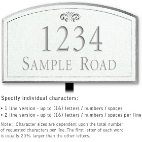 Salsbury 1420WSFL Signature Series Address Plaque