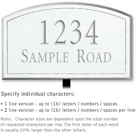 Salsbury 1420WSNL Signature Series Address Plaque