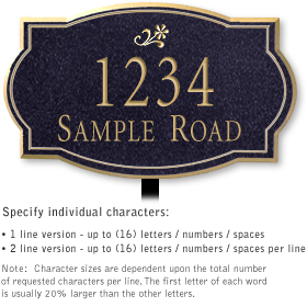 Salsbury 1442BGDL Signature Series Address Plaque