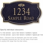 Salsbury 1442BGFS Signature Series Address Plaque