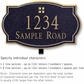 Salsbury 1442BGGL Signature Series Address Plaque