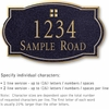 Salsbury 1442BGGS Signature Series Address Plaque