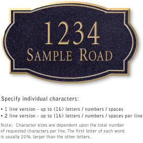 Salsbury 1442BGNS Signature Series Address Plaque