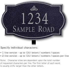 Salsbury 1442BSIL Signature Series Address Plaque