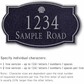 Salsbury 1442BSSS Signature Series Address Plaque