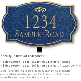 Salsbury 1442CGFL Signature Series Address Plaque