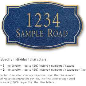 Salsbury 1442CGNS Signature Series Address Plaque