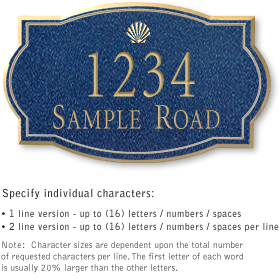 Salsbury 1442CGSS Signature Series Address Plaque