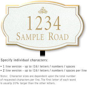 Salsbury 1442WGIL Signature Series Address Plaque