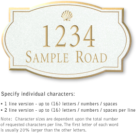 Salsbury 1442WGSS Signature Series Address Plaque