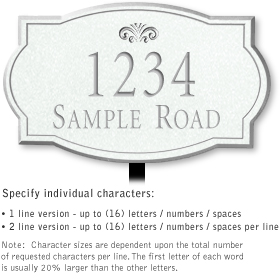 Salsbury 1442WSFL Signature Series Address Plaque
