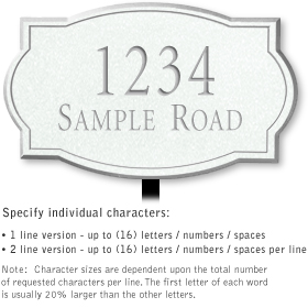Salsbury 1442WSNL Signature Series Address Plaque