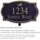Salsbury 1441BGDL Signature Series Address Plaque