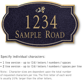 Salsbury 1441BGDS Signature Series Address Plaque