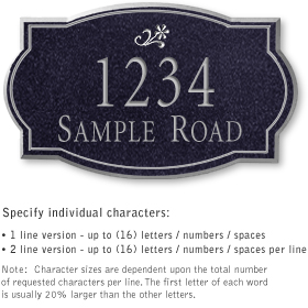Salsbury 1441BSDS Signature Series Address Plaque