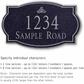 Salsbury 1441BSIS Signature Series Address Plaque