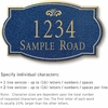 Salsbury 1441CGFS Signature Series Address Plaque