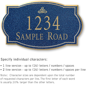 Salsbury 1441CGIS Signature Series Address Plaque