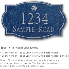 Salsbury 1441CSSS Signature Series Address Plaque