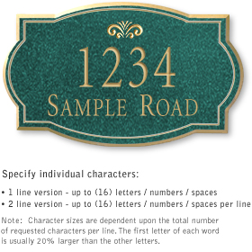 Salsbury 1441JGFS Signature Series Address Plaque