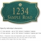 Salsbury 1441JGSS Signature Series Address Plaque
