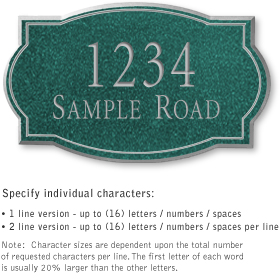 Salsbury 1441JSNS Signature Series Address Plaque