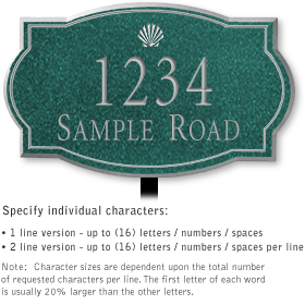 Salsbury 1441JSSL Signature Series Address Plaque