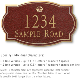 Salsbury 1441MGSS Signature Series Address Plaque