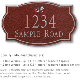 Salsbury 1441MSDS Signature Series Address Plaque
