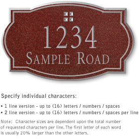 Salsbury 1441MSGS Signature Series Address Plaque
