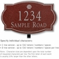 Salsbury 1441MSSL Signature Series Address Plaque