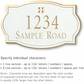 Salsbury 1441WGGS Signature Series Address Plaque