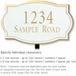 Salsbury 1441WGNL Signature Series Address Plaque
