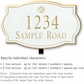 Salsbury 1441WGSL Signature Series Address Plaque