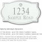 Salsbury 1441WSSS Signature Series Address Plaque