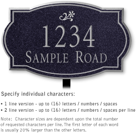 Salsbury 1440BSDL Signature Series Address Plaque