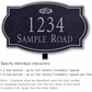 Salsbury 1440BSFL Signature Series Address Plaque