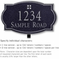 Salsbury 1440BSGL Signature Series Address Plaque