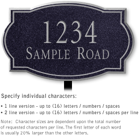 Salsbury 1440BSNL Signature Series Address Plaque