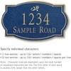 Salsbury 1440CGDS Signature Series Address Plaque