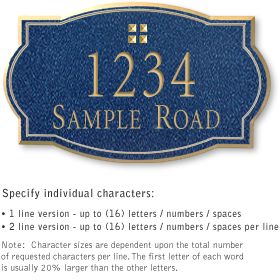 Salsbury 1440CGGS Signature Series Address Plaque