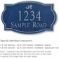 Salsbury 1440CSDS Signature Series Address Plaque
