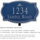 Salsbury 1440CSIL Signature Series Address Plaque