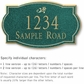 Salsbury 1440JGDS Signature Series Address Plaque