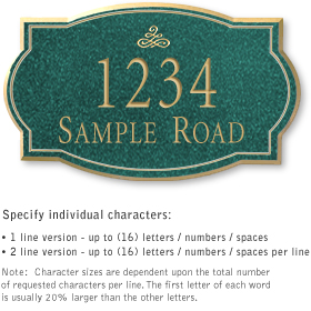 Salsbury 1440JGIS Signature Series Address Plaque